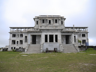 abandoned house ,Bokor Hill Station, Cambodia