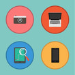 Vector of Device icon set.Notebook,camera,tablet,smartphone