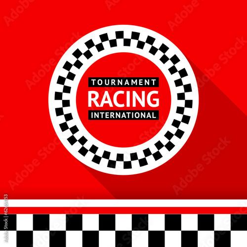 Naklejka Racing badge 06