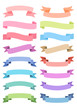 ribbon banner set, vector