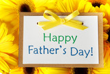 Fathers day card with gerberas