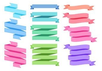 colorful ribbon set, vector