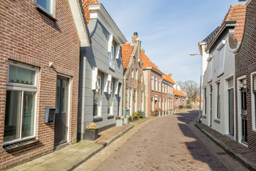 Traditional Dutch houses in a smal village