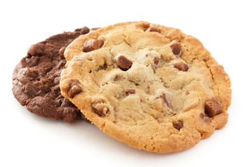 Large light chocolate chip cookie