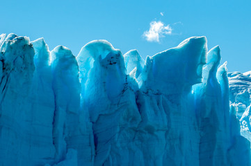 Blue ice of Perito Moreno Glacier, Argentina © javarman