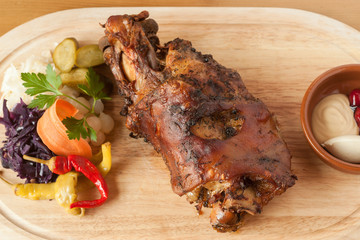 Roasted European pork knuckle