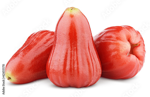 Rose apples or chomphu isolated on white with clipping path