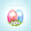 Two decorative Easter eggs