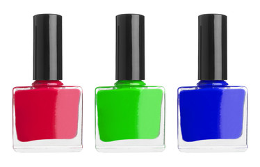 Set of color nail polish