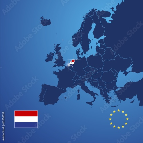 Netherlands map cover vector
