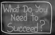 What Do You Need To Succeed Concept