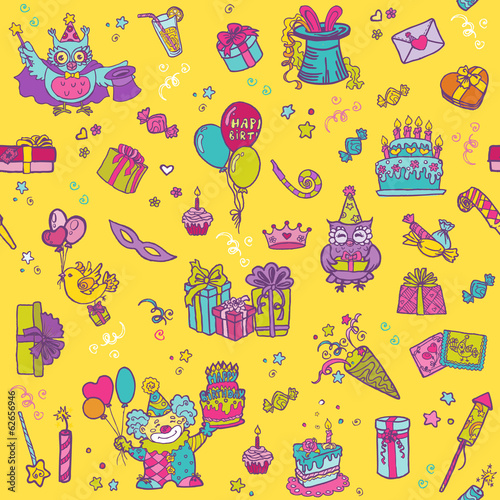Birthday Celebration Seamless Pattern