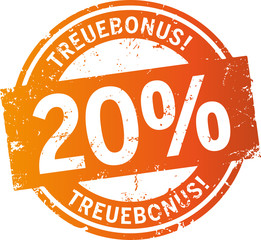 Treuebonus Button 20%