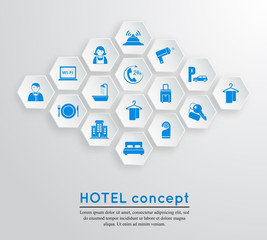 Hotel travel accommodation emblem