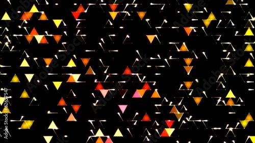 Colorful Triangle Background Animation - Red