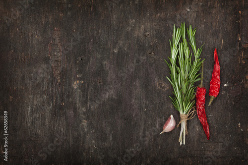 canvas print picture Herbs and spices