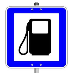 Tankstelle Schild  #140316-svg02