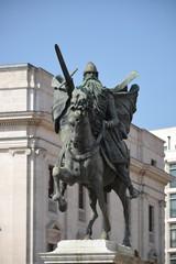 Monumento en memoria de El Cid Campeador en Burgos, España
