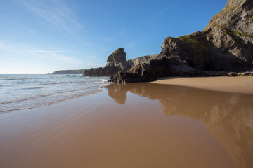 Bedruthan beach Cornwall Uk