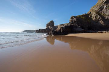 Bedruthan beach Cornwall Uk