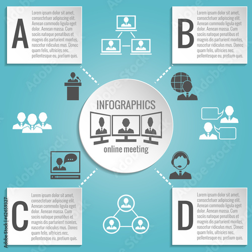 Business people meeting infographics