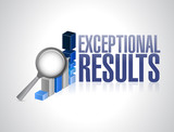 exceptional business results graph illustration poster