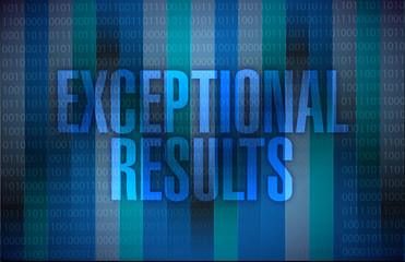 exceptional results message over a binary