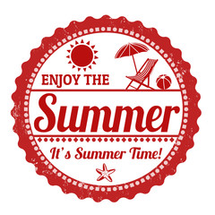 Enjoy the summer stamp