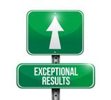exceptional results sign illustration design poster
