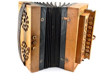 fisarmonica a tasti in legno