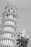 Pisa -la torre e i putti bw poster