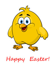 Happy cartoon Easter little chick