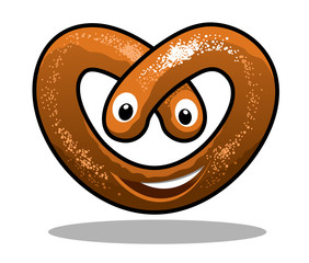 Fun happy curly pretzel