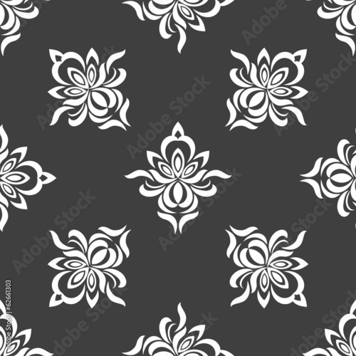 Grey seamless pattern background