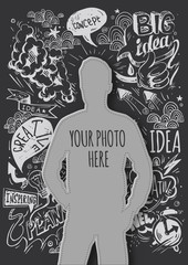 Creative template for your photo. Idea