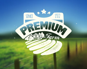 Premium products poster, vector illustration