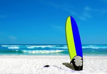 Surf Board on the Beach