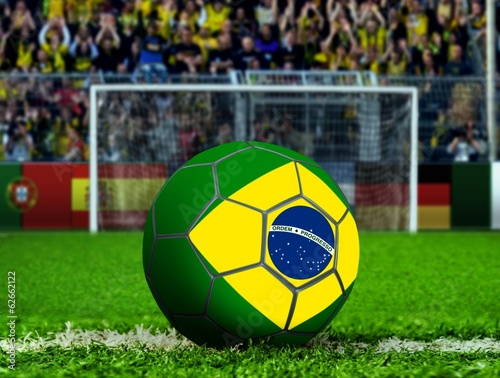 Brazil Ball with Goal Post and Crows