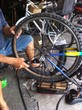 fixing bicycle wheel