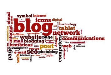 Blog concept word cloud