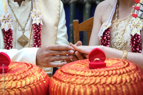 Wearing the ring in wedding ceremony