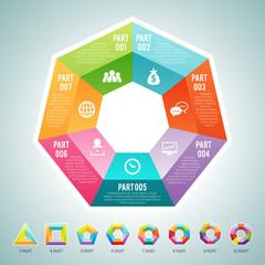 Polygon Infographic Elements