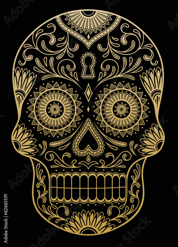 Ornate One Color Sugar Skull