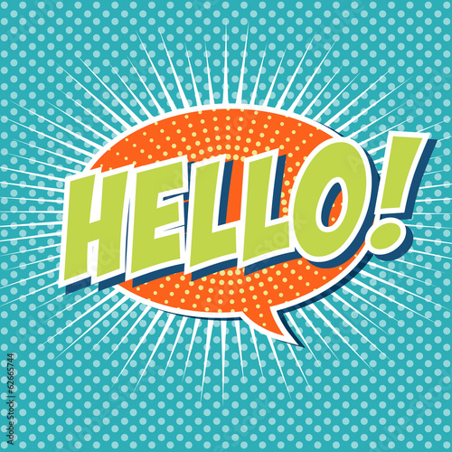Hello ! - Comic Speech Bubble, Cartoon