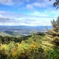 Scenic view from blue ridge parkway