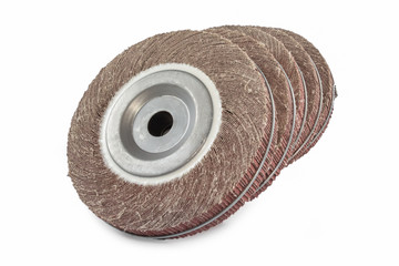 Abrasive flap wheel isolated on white background