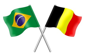 Flags : Brazil and Belgium