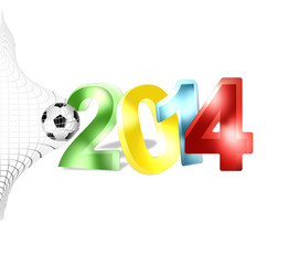 2014 football 3d shiny background