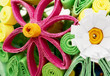 Colorful decorative flowers made ​​of paper