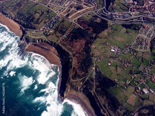 canvas print picture Luftbild Bilbao